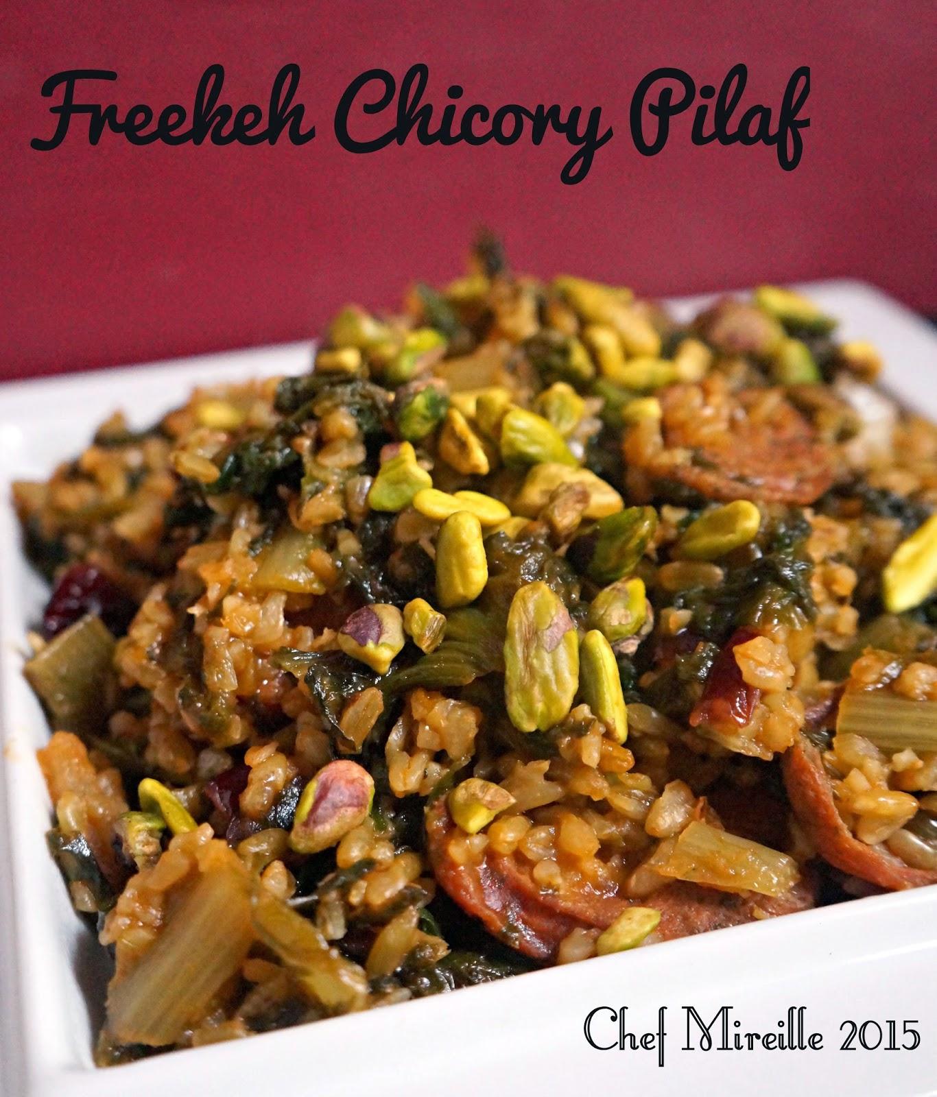 Freekeh Chicory Pilaf