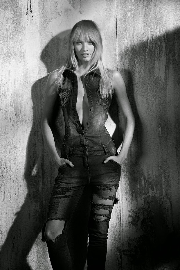 Candice Swanepoel no início do shooting de inverno 2015
