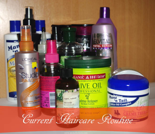 Current Haircare Routine, What I use on my hair, Haircare, Hair products