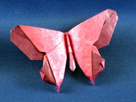 Origami butterfly michaelshall lafosse 3d