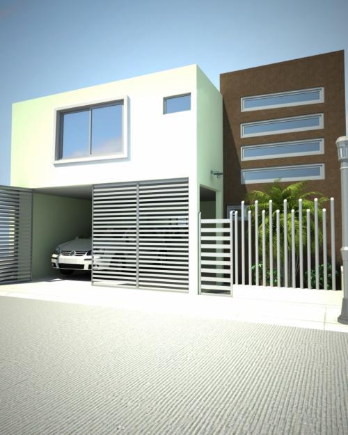 Decoraci n minimalista y contempor nea m s fachadas for Colores para casas minimalistas