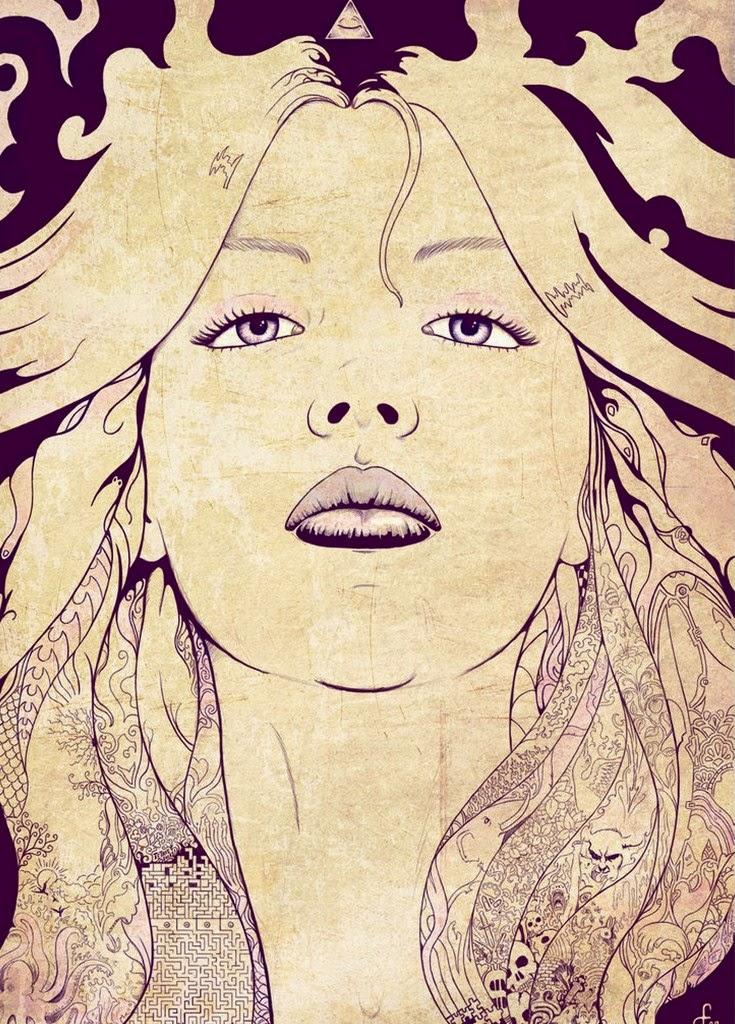 mujeres-dibujos-hechos-a-mano