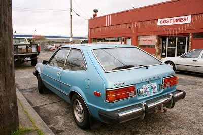 1976 Honda Accord CVCC hatchback.