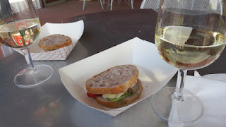 2013 Pillitteri Pinot Grigio paired with Strawberry and Brie Grilled Cheese Slider