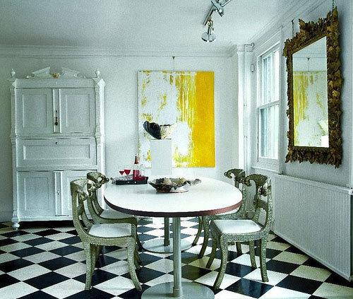 Black And White Kitchen Floor: SeekingDecor: Black & White Checkerboard Kitchen Flooring