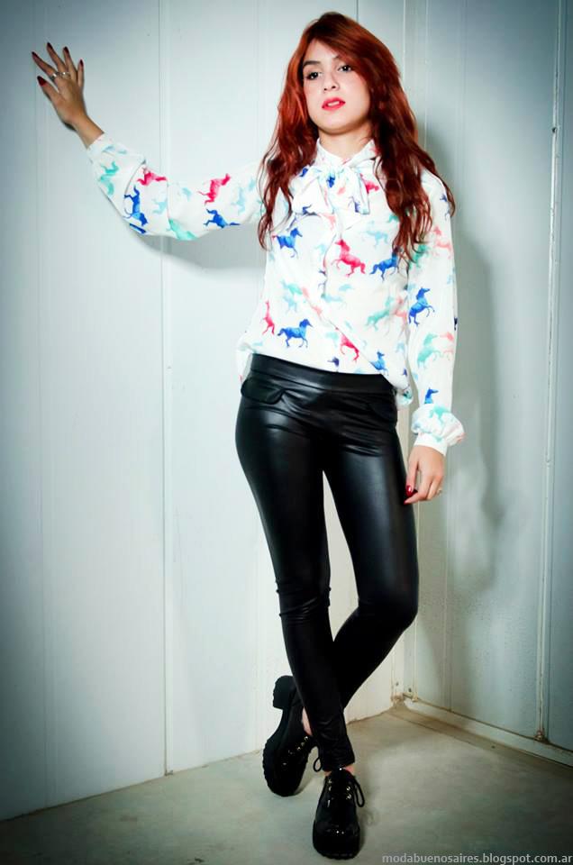 Moda otoño invierno 2014 coleción de ropa de mujer de moda Cintia Vergara.
