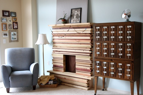 Inspired Whims Stacked Wood Mantel