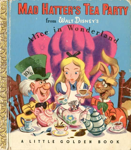 vintage disney alice in wonderland little golden book