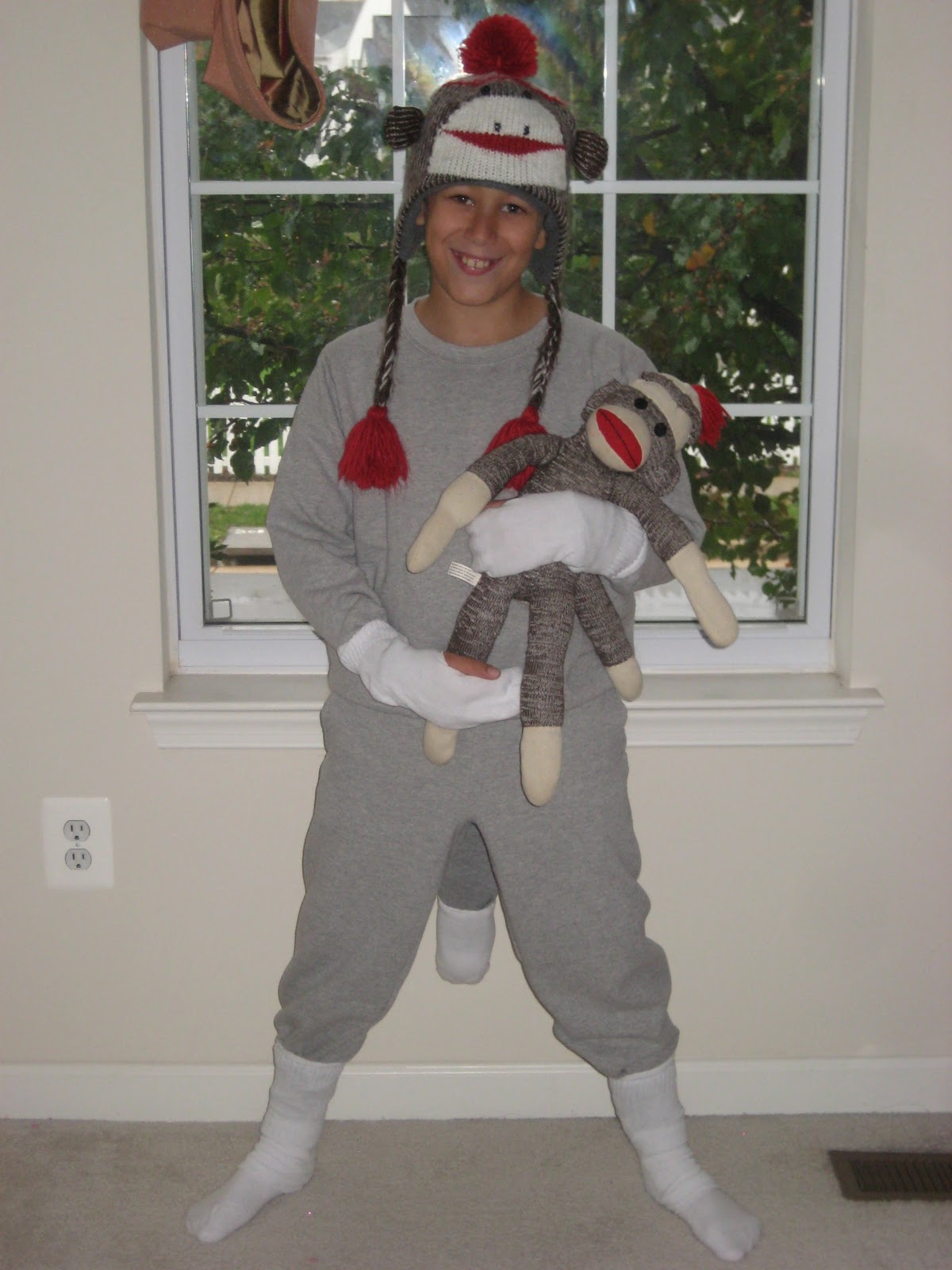 diy sock monkey costume you me and b diy sock monkey costume pictorial