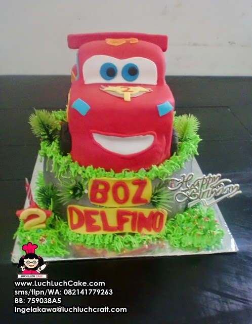 Kue Tart Ulang Tahun Cars Lighting Mc Queen Daerah Surabaya - Sidoarjo