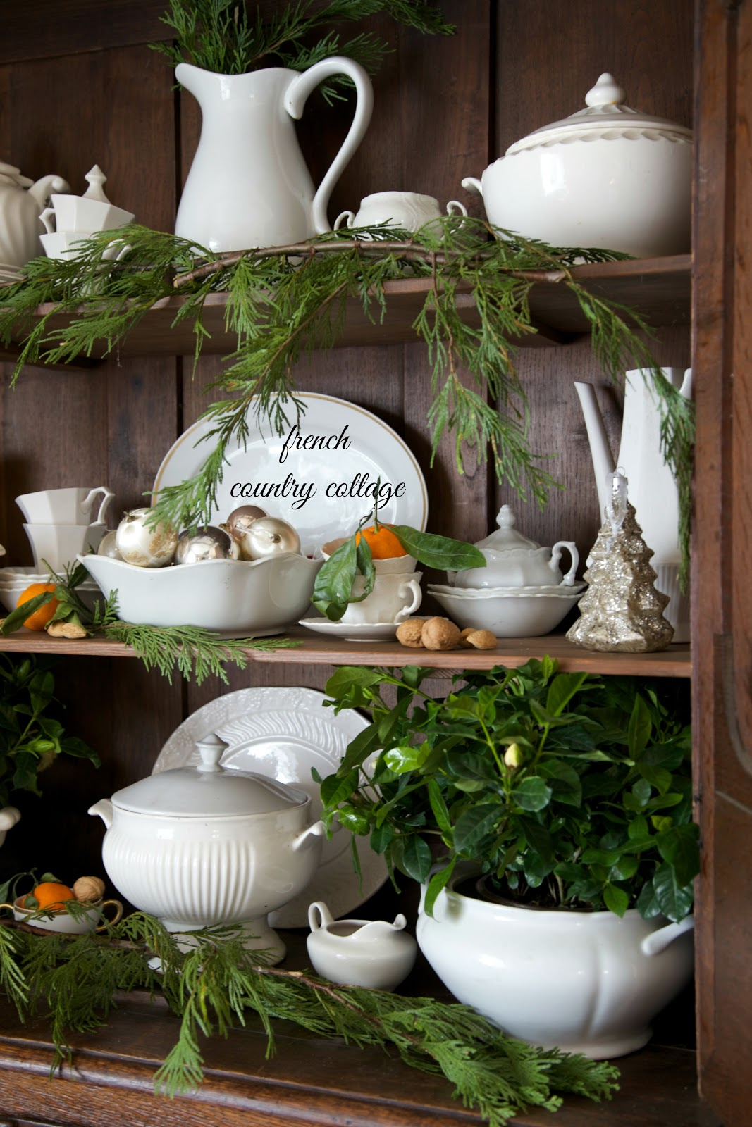 French country cottage christmas home tour french for Pinterest christmas decorations for the home