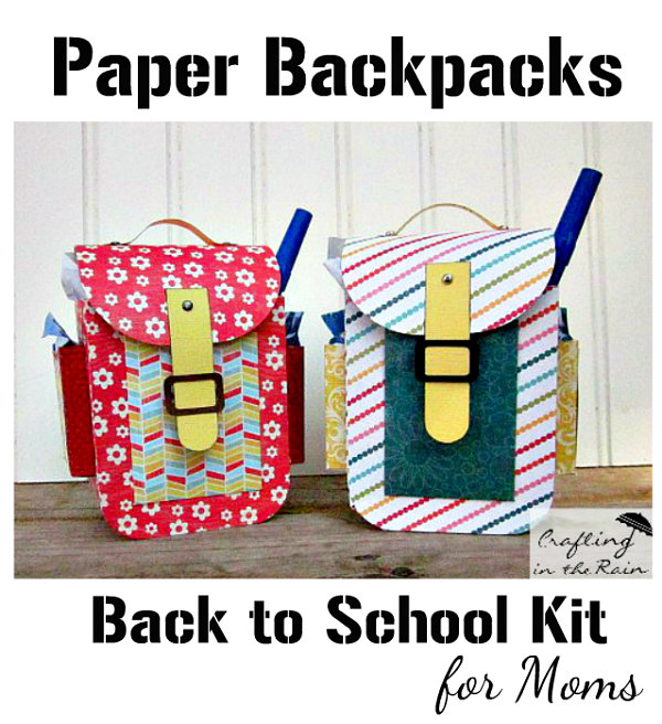 colorful paper backpacks as gift boxes