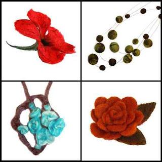 filcowanie kwiatka, korali, broszki