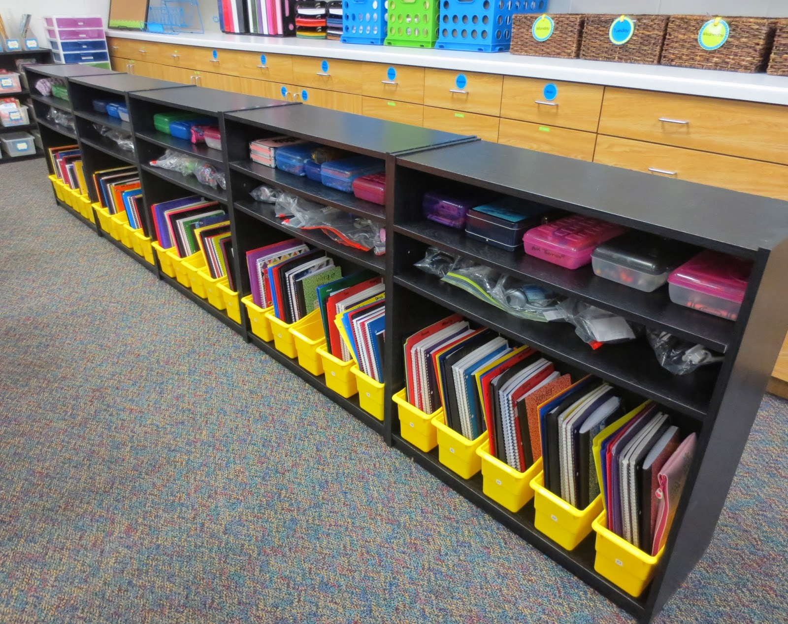 Classroom Shelves Ideas ~ Setting up for second mid year update alternative seating