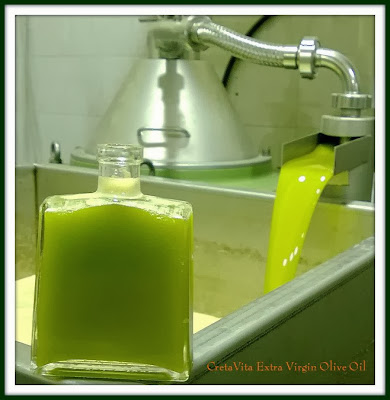 First drops of fresh Olive Oil at CretaVita mill @2013