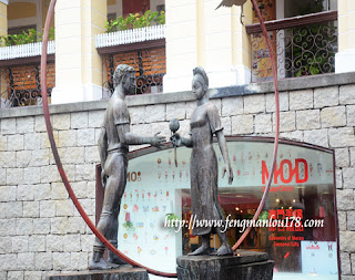 大三巴铜像