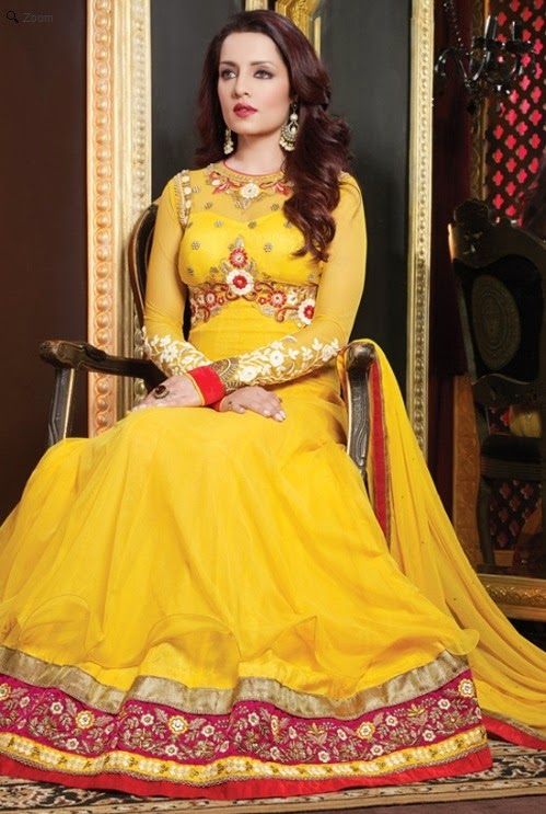 Embroidery anarkali suit
