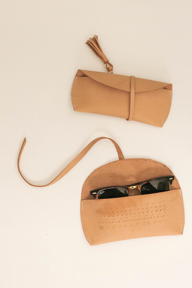Leather Sunglasses Case - Always Rooney