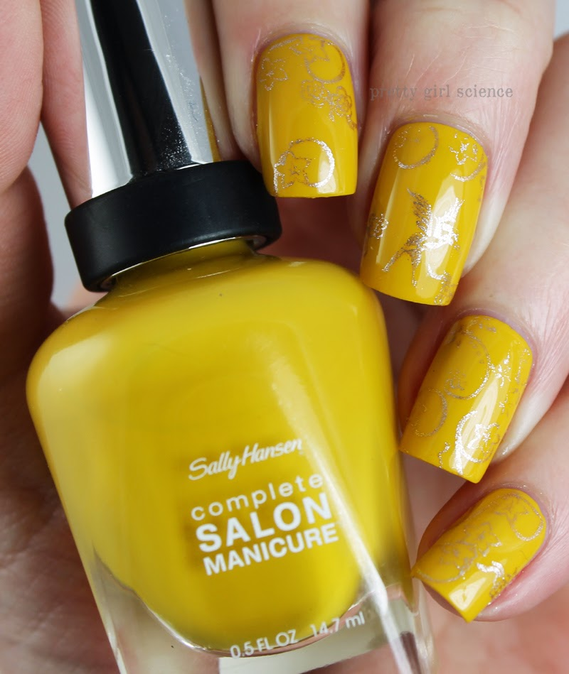 Жёлто коричневые ногти