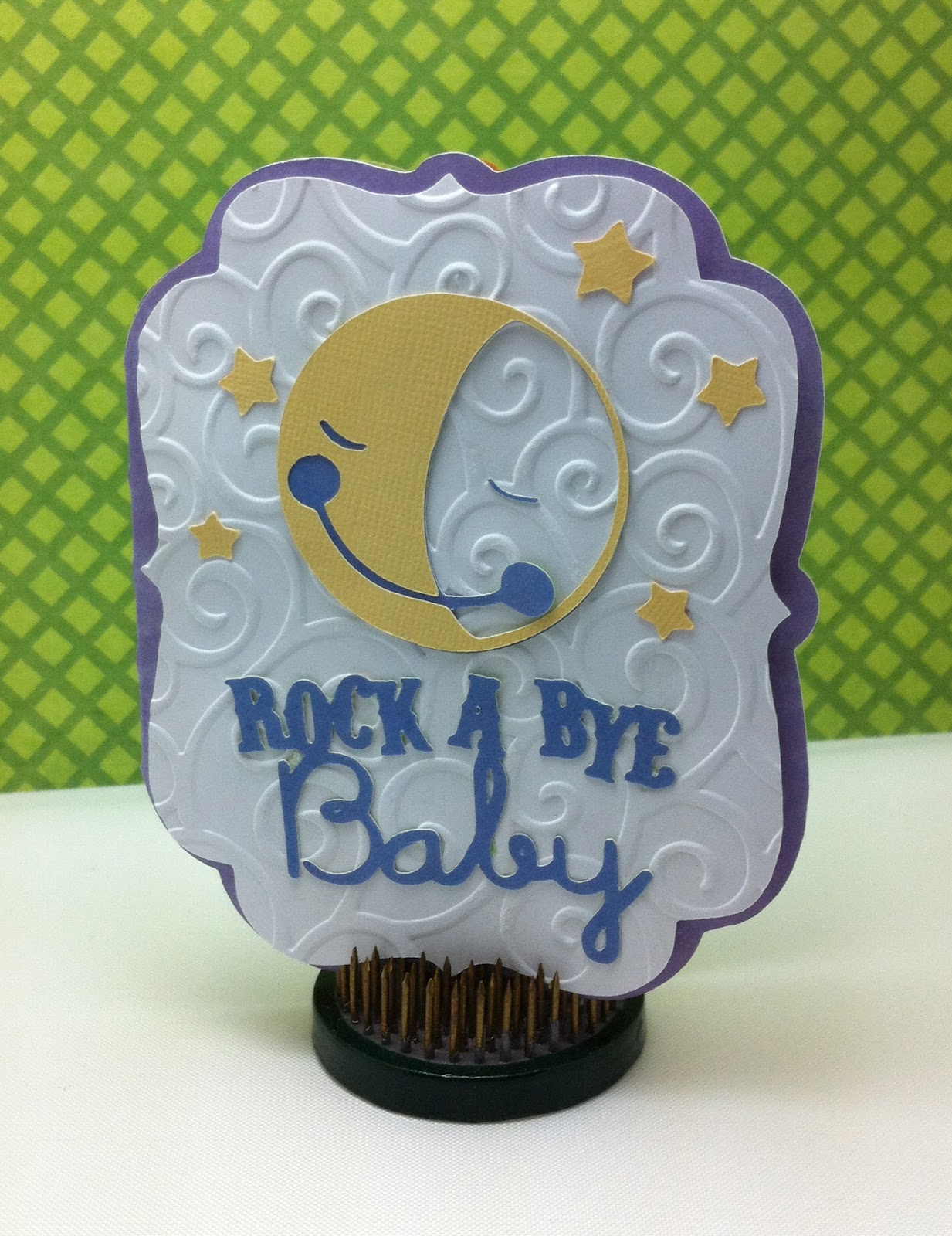 scrapbooking rock a bye baby card with cricut baby shower cartridge