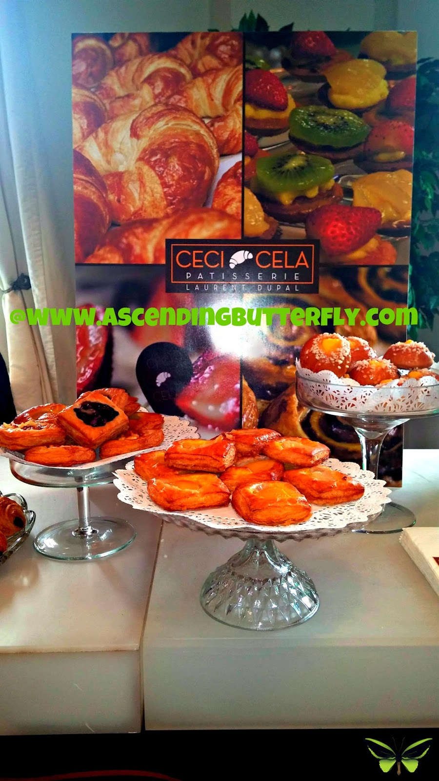 Ceci Cela Patisserie Pastries Display at BeautyPress Spotlight Day February 2014
