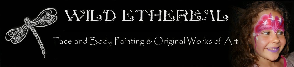 Wild Ethereal Face and Body Painting and Original Works of Art