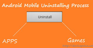 Uninstall apps from Android Mobile