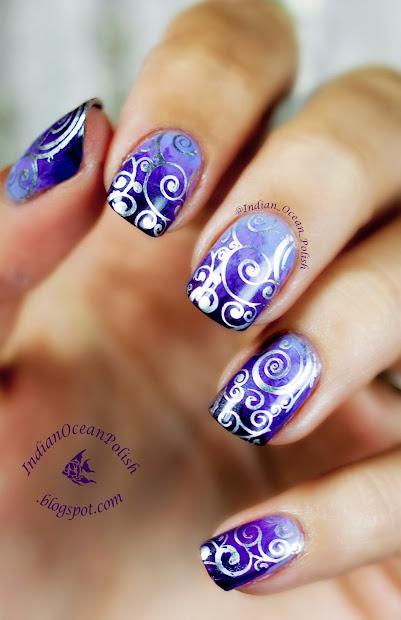 indian ocean polish purple marbled