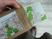 postkort lavet af landkort