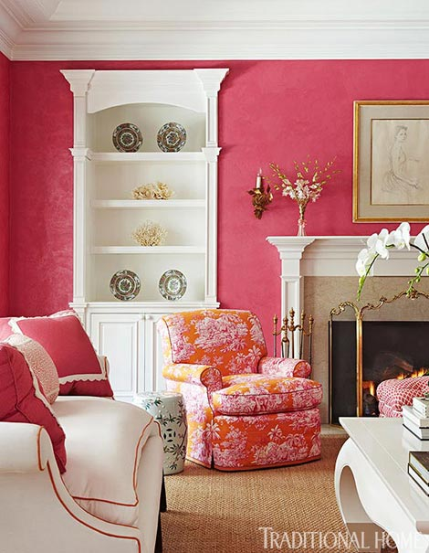 Summer In Newport: Pink Perfection in Traditional Home