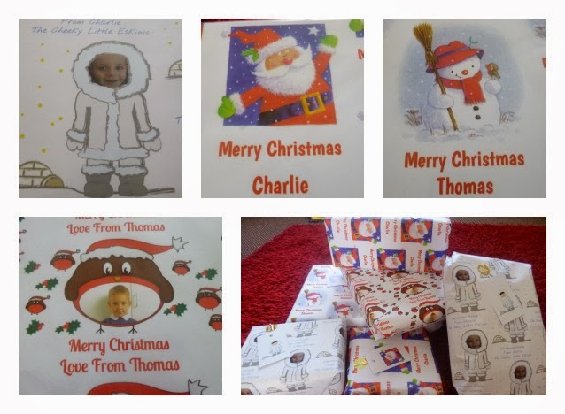 Yorkshire Blog, Mummy Blogging, Parent Blog, Christmas Feature, Wrapping Paper, Dom and geri, Review, Personalised,