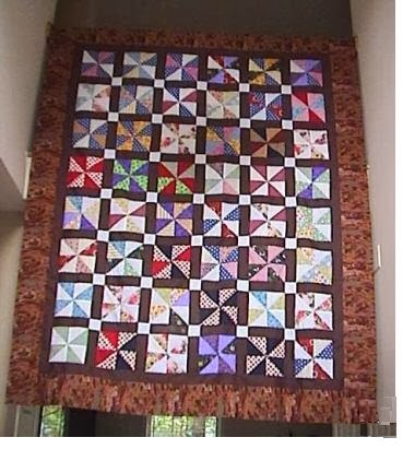 Big Pinwheel Quilt Top