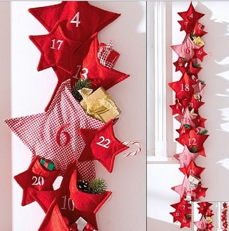 Home quotes 12 advent calendar ideas for craft this christmas easy advent calendar ideaready in no time small cloth bags ribbon and tack pins is all you need put it up on a wall or board cheat use glue instead of solutioingenieria Images