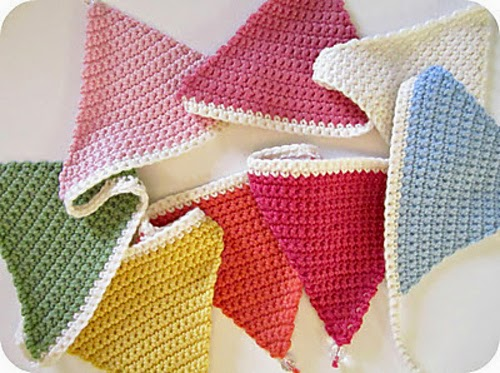 free crochet pattern simple triangle bunting