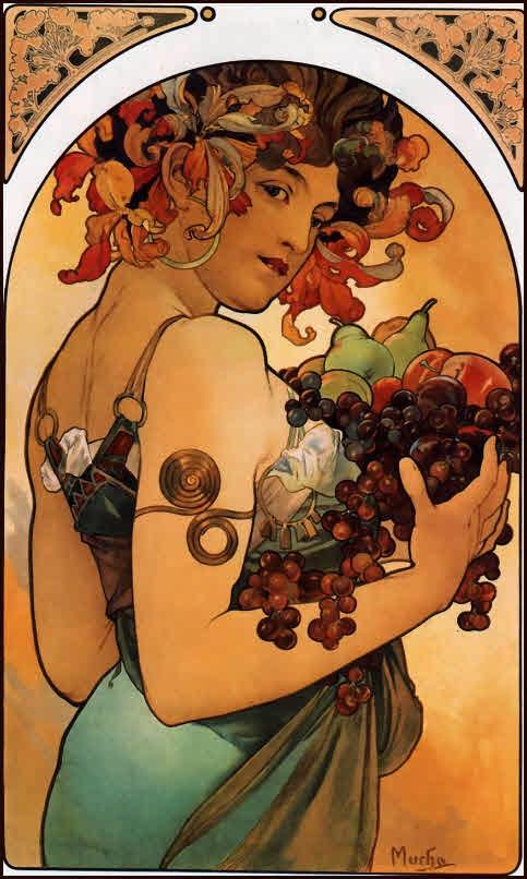 Alphonse Maria Mucha,Art Nouveau,painting