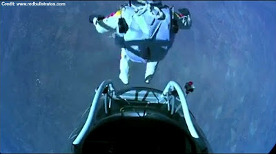 LIVE VIDEO - Mission To The Edge of Space –  Jumping from Capsule 10-14-12