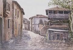 pintura pueblo gallego