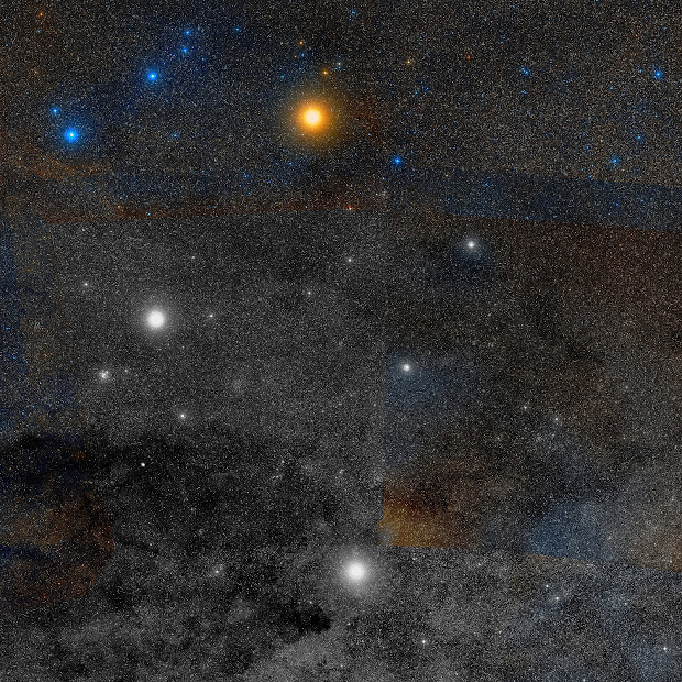 New DSS2 image of the Southern Cross and the Coalsack