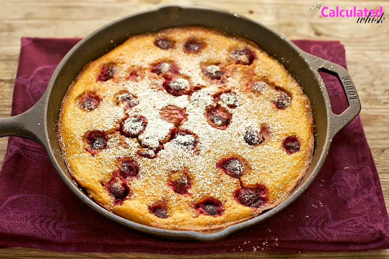 Cherry Clafoutis (Gluten free, Grain free) - A Calculated Whisk