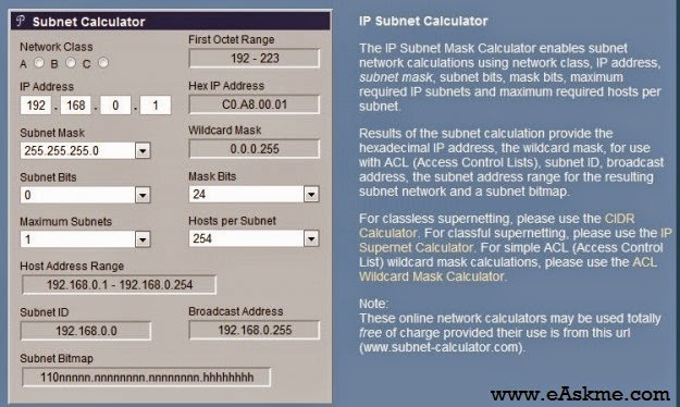 Subnet Calculator Sites for Network Admins : eAskme