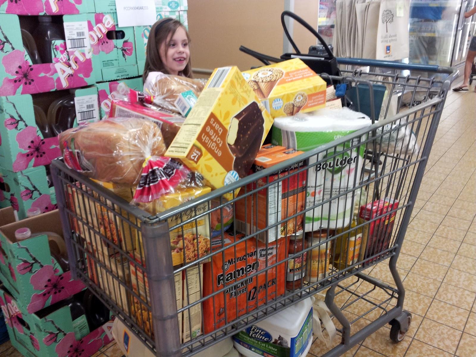 Half Full Grocery Cart
