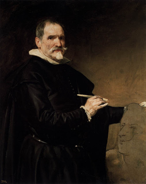 1635 Portrait of the Sculptor Juan Martinez Montane, Diego Velazquez, Baroque Portrait