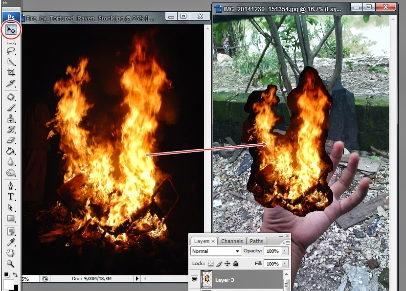 SENIMAN PHOTOSHOP: EFEK API PADA FOTO