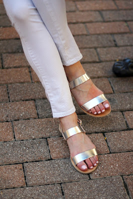 Metallic Sandals Summer Vegan