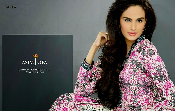 Asim Jofa Chiffon - Charmeuse Silk Collection 2014 | Eid Festive Wear
