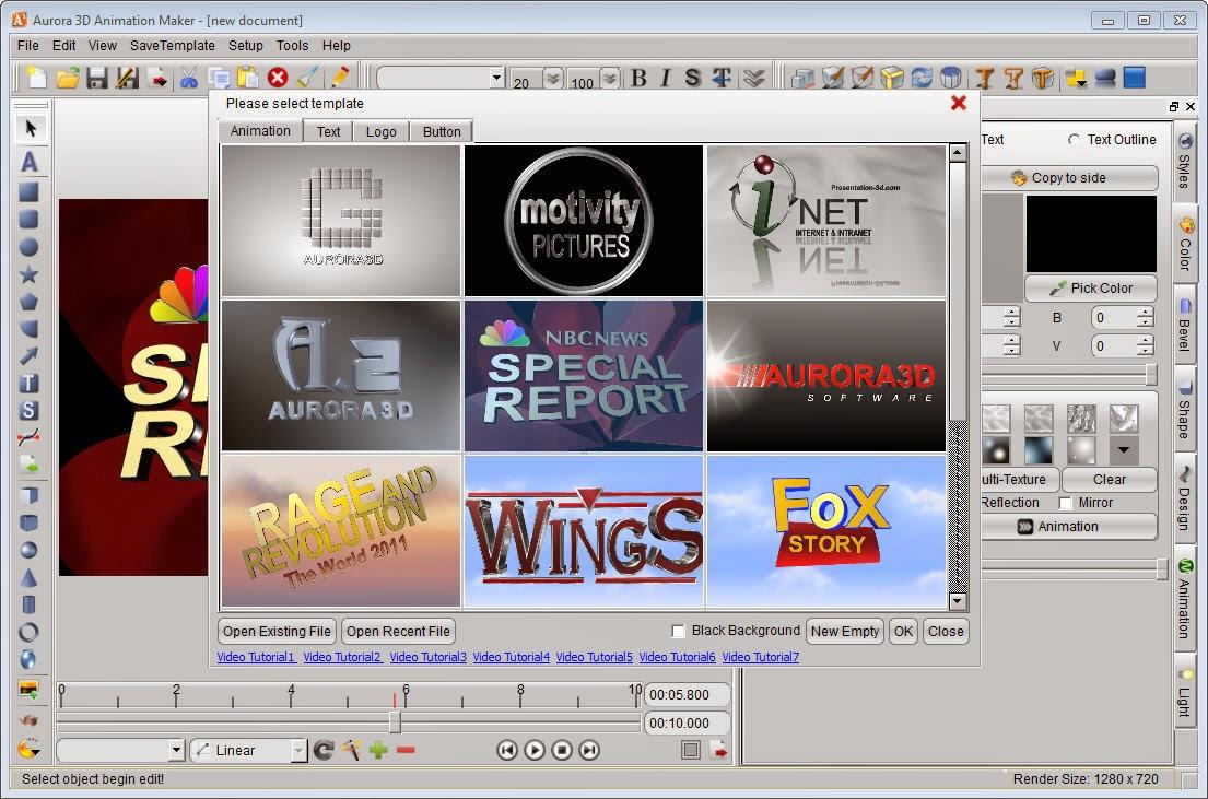 Aurora 3d animation maker v13 0503 full version product key free download