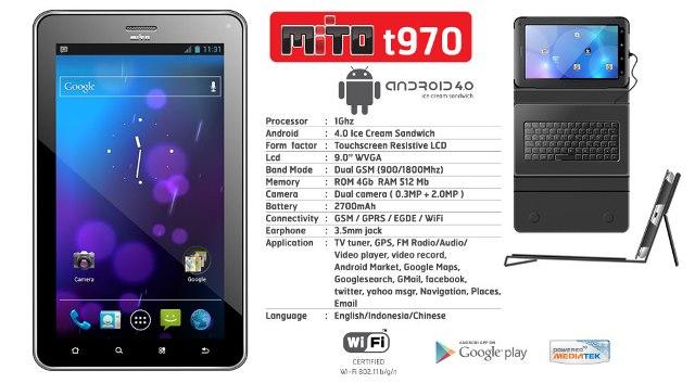 Harga Tablet Mito T970 dan Spesifikasinya