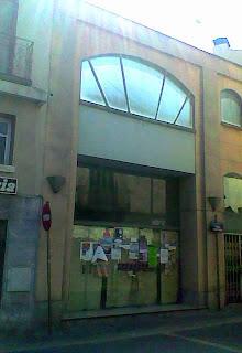 Fachada Teatro Principal de Barbastro (Somontano, Huesca, Aragón, España)