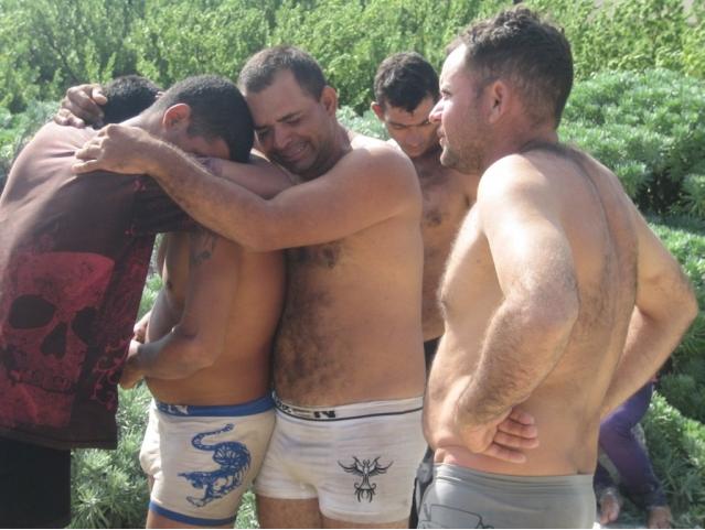 Balseros cubanos en isla Mujeres
