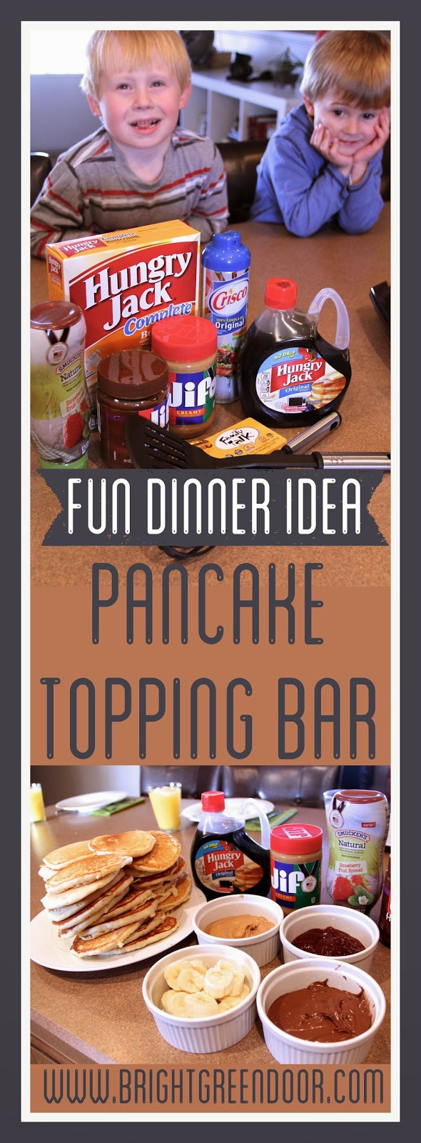 Fun Dinner Idea: Pancake Topping Bar